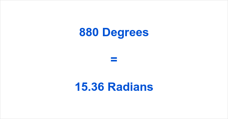 880 Degrees in Radians
