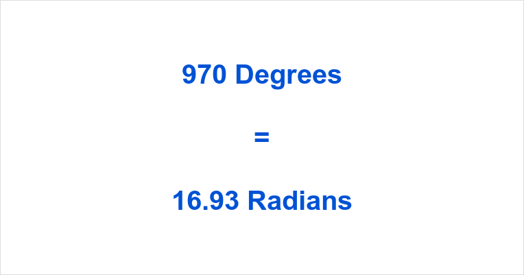 970 Degrees in Radians