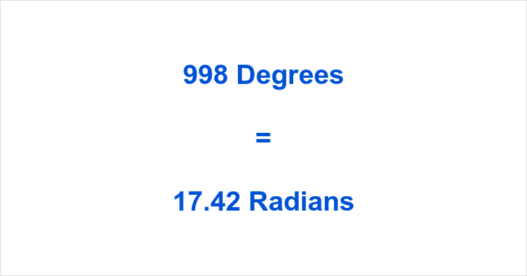 998 Degrees in Radians